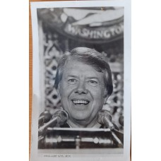 Signed picture of Jimmy Carter