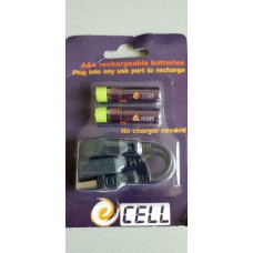 USB rechargeable AAA batteries